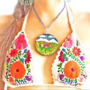 Bikini Hand Embroidered Crochet Handmade